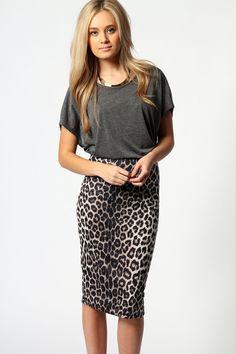 Abbie Leopard Tube Skirt