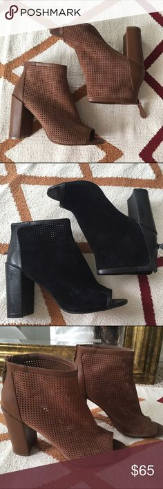 """Steven by Steve Madden Leather Booties Practically NEW! These will go fast! Make me an offer! Size 9, both only worn less than once. 2-3"""" height. No noticeable marks. I am selling two each. Hoping to find a good closet. Please comment below if you would like the tan or black. Gorgeous shoes! ❤️ No Trades ❤️ Reasonable offers accepted ❤️ If it doesn't fit, just resell!  ❤️ Enjoy!! Steven by Steve Madden Shoes Ankle Boots & Booties"""