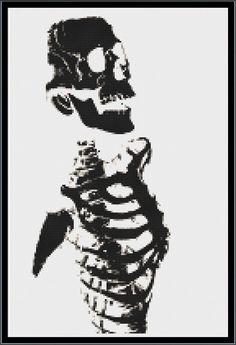 Inverted Skeleton Cross Stitch Pattern by apocalypsegirl on Etsy