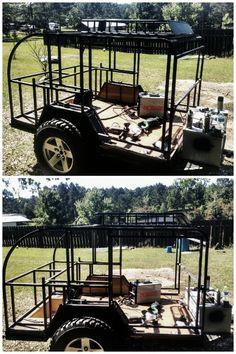 Steal framed off road teardrop camper build