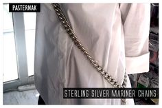 just think what you can do with this 925 Sterling silver Hollow Anchor Chain by the Foot.... BUY NOW: http://www.pasternakfindings.com/