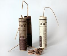 Compressed Sparkling Chocolate Powder in Dynamite Packaging