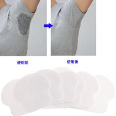 12x Unisex Women Men Disposable Underarm Armpit Sweat Pads Absorbing Anti Perspiration Pads