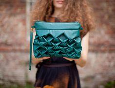 Baby Ninfea in green. Vegan bag. $57.00, via Etsy.