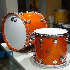 Tangerine Lacquer Jazz Series. #dwdrums