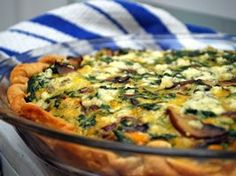 Three Cheese-Vegetable Quiche Recipe from Betty Crocker