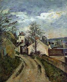 """""""Maison de l artiste à Yerres"""", huile sur toile de Gustave Caillebotte (1848-1894, France)"""