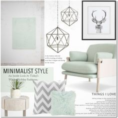Minimalist Home by dian-lado on Polyvore featuring interior, interiors, interior design, home, home decor, interior decorating, Jayson Home, Intelligent Design, Amara and Allstate Floral