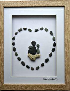 Pebble Art Nana Love Grandmother Grandma Gift by PebbleRoadStudio
