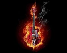 Black White And Red Wall Art Painting Guitar On Fire Modern Contemporary Music Prints On Canvas The Picture Abstract Pictures Oil For Home M. Widescreen Wallpaper, Music Wallpaper, Wallpaper Backgrounds, Desktop Wallpapers, Wallpaper Ideas, Wallpaper Downloads, Rock And Roll, Flame Art, Abstract Pictures