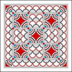 new york beauty quilt block   Stof genoeg   Een tweetalig blog over Inklingo, EQ7, quilten ...