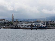 Dun Laoghaire Car Ferry Dock (Disused) with fun fair on the vehicle loading area. Blood Photos, Michael Church, Fun Fair, Buckets, Dublin, Paris Skyline, Ireland, Explore, Car