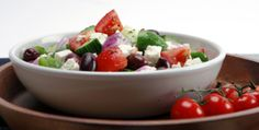 Great Big Hothouse Greek Salad - Recipes - Best Recipes Ever - Skip the take-out and make your favourite Greek Salad at home. Canadian Living Recipes, Greek Salad Recipes, Hothouse, Best Food Ever, Appetizer Dips, Healthy Recipes, Healthy Foods, Entrees, Salads