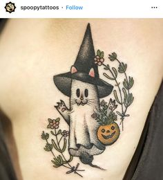 These Fall Tattoos will make you nostalgic for the taste of hot apple cider and Halloween sweets. Time Tattoos, Up Tattoos, Future Tattoos, Body Art Tattoos, Sleeve Tattoos, Cool Tattoos, Kawaii Tattoos, Horse Tattoos, Celtic Tattoos