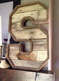 24-inch teruggewonnen hout Letters van SmithCoCustoms op Etsy