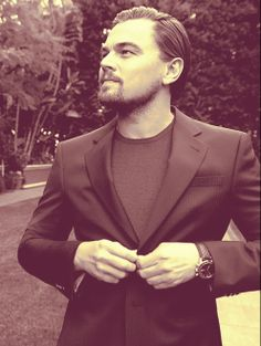 Great picture, he looks like a throwback to another time. Leonardo DiCaprio