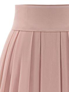 Pink High Waist Overlay Chiffon Skirt   abaday