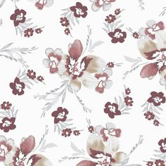 Whimsical blushed floral custom fabric by andso for sale on Spoonflower Creative Business, Custom Fabric, Spoonflower, Fabric Design, Whimsical, Branding Design, Craft Projects, Vibrant, Quilts