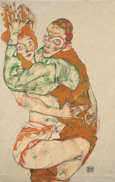 Egon Schiele - Liebesakt (1915)