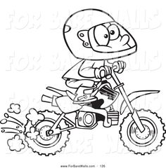 Honda Dirt Bike Coloring Pages | ... from Coloring Pages Dirt Bike Printable Free Color wallpaper