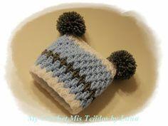 My Crochet , Mis Tejidos: Baby PomPom Hat and Pattern