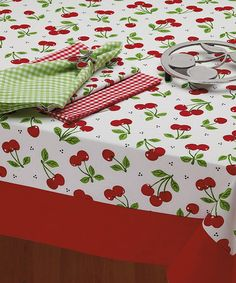 Look what I found on #zulily! Cherry Toss Tablecloth #zulilyfinds