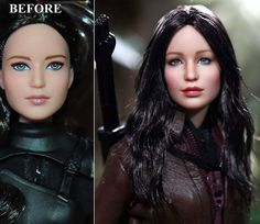WEBSTA @noelcruzdolls - NOW ON EBAY: 3-day auction ends Wednesday Jan 13th 6 pm PST Custom repaint of 11 1/2 inch Jennifer  Lawrence Hunger Games Katniss Everdeen doll/figure (hair down version)For more of my work visit www.ncruz.com or Facebook at www.facebook.com/noelcruz.art #art #actionfigure #barbiedoll #customdoll #customfigure #dollart #dollartist #dollrepainting #dollmakeover #dollcollector #hottoys #makeup #hairstyle #hairstyle #hairstyle #makeover #makeupartist #noelcruz