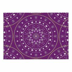 KESS InHouse Cristina Bianco Design 'Purple Mandalas' Purple Geometric Dog Place Mat, 13' x 18' *** Find out more details by clicking the image : Dog food container