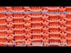 Punto tejido a crochet # 11 para mantitas y cobijas de bebe paso a paso - YouTube