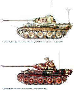 German Panther Ausf A & G V