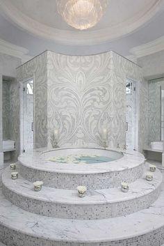 Master Bathroom in Atlanta Holiday House 2010 - Interior Design by Michael Habachy