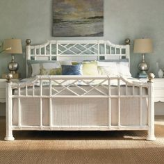 Tommy Bahama by Lexington Home Brands Ivory Key Pritchards Bay Panel Bed - White, Size: King - LEX820-2