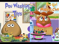 Pou Washing Toys And Clothes - Pou Games