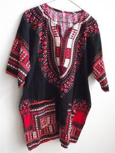 Vintage Dashiki Shirt Top Boho Hippie ladies men by divasvintage, $20.00