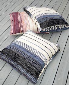 Huset i Lunden: Filleryeputer og bruktfunn Lund, Pin Weaving, Color Feel, Weaving Textiles, Weaving Projects, Diy Storage, Wall Hanger, Textile Patterns, Color Inspiration