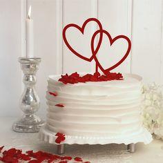 Cake Topper Herzen rot