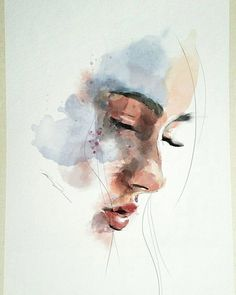 There is no automatic alternative text available. There is no automatic alternative text available. Watercolor Art Face, Watercolor Portraits, Portrait Paintings, Portrait Art, Watercolor Illustration, Art Paintings, Watercolor Paintings, Simple Watercolor, Watercolor Trees