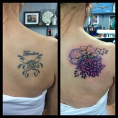 Cover up tattoo flowers