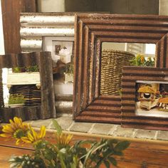 Roofing Tin Frames - eclectic - frames - atlanta - Iron Accents