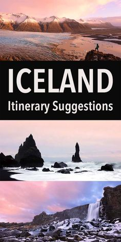 Iceland Travel Iceland Itinerary Suggestions for any trip from a short stopover in Reykjavik to a two week trip around the island. See the best of Iceland with these tips! Iceland Travel Tips, Iceland Road Trip, Places To Travel, Travel Destinations, Places To Visit, Iceland Adventures, Paris, Winter Travel, European Travel