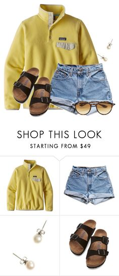 """Study Hall..."" by flroasburn ❤ liked on Polyvore featuring Patagonia, Levi's, J.Crew, Birkenstock and Ray-Ban"