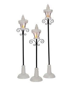 Loving this LED Lamppost Set on #zulily! #zulilyfinds