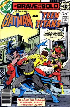 The Brave and the Bold Batman & The Teen Titans. Dc Comics, Batman Comics, Comic Book Pages, Comic Book Covers, Batman Comic Books, Comic Books Art, Comic Art, Batman And Superman, Spiderman