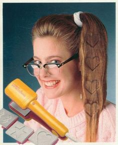 """I remember having a regular """"crimper"""", but I wanted this soooo bad. My Momma on the other hand, wasn't too crazy about  waking up extra early to """"crimp"""" my hair before school. :D I don't blame her now!"""
