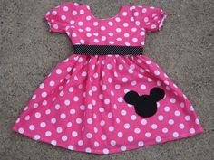 Custom Boutique Minnie Mouse Dress 12 Months to 6 Years. $39.99, via Etsy.