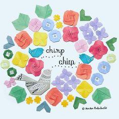 コトリはとっても歌がスキ〜〜 chirpchirp ❤️ • • #origami #papercraft #wreath #paperflower #birdsong #nanatakahashi #折り紙 #ペーパークラフト #おはな #コトリ #リース #たかはしなな #色多すぎた (Ikoma, Nara)
