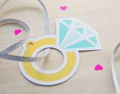 free printable diamond ring gift tags