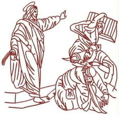 Advanced Embroidery Designs - Jesus Purifies the Temple