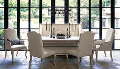 Break conventional boundaries with the Bernhardt Campania dining room. Find beautiful Bernhardt furniture at West Coast Living