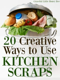 See this list of 20 Creative Ways to Use Kitchen Scraps including making candied orange peels, hair dye and composting! Easy Cooking, Healthy Cooking, Cooking Tips, Frugal Meals, Easy Meals, Candied Orange Peel, Kitchen Time, Kitchen Waste, Kitchen Hacks